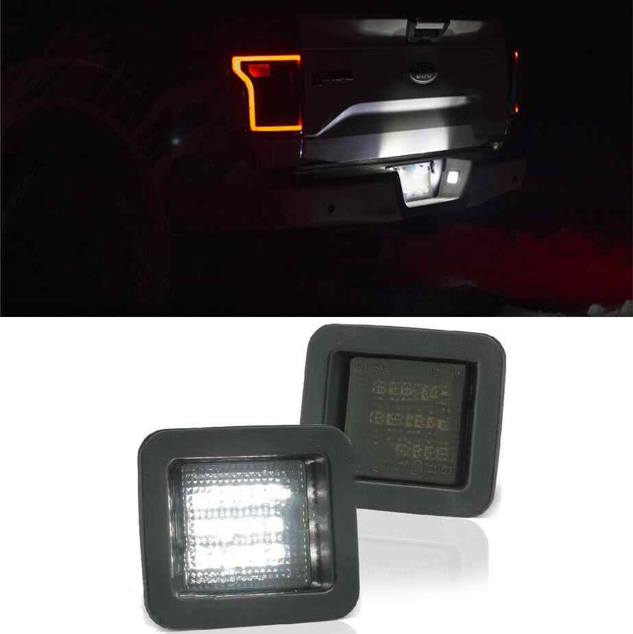 Dragonpad For 2015-2018 Ford F150 High Power LED Smoke License Plate Light Bulb Assembly