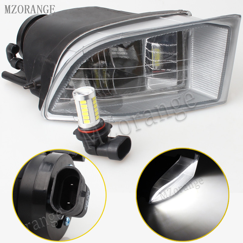 MZORANGE Front Bumper LED Fog Light White Fog Lamp For TOYOTA LAND CRUISER PRADO LC120 2700 4000 2002 2003 2004 2005 2006-2009 novsight car led headlights assembly headlamp projector drl fog light daylight for toyota prado 2004 2009