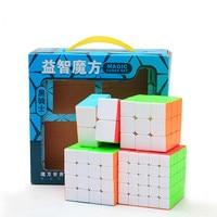 Zcube 4 Cubes Magic Neo Fidget Cube Moondrop Set Includes 2x2 3x3x3 4x4x4 5x5x5 Stickeless Cube Toys For Children Training Brain