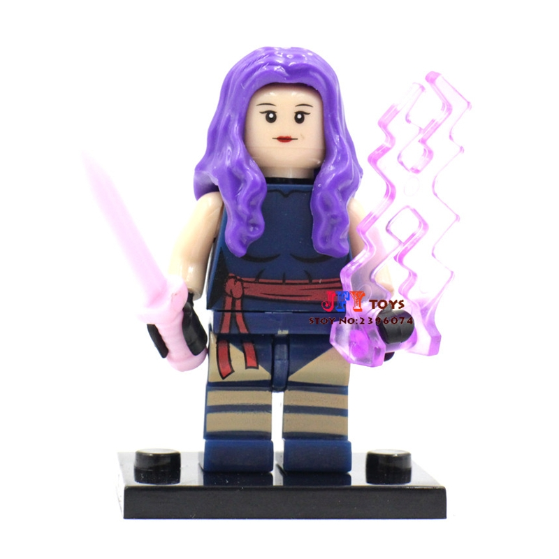 Single Sale star wars superhero marvel X-men Psylocke SDCC building blocks model bricks toys for children brinquedos menino