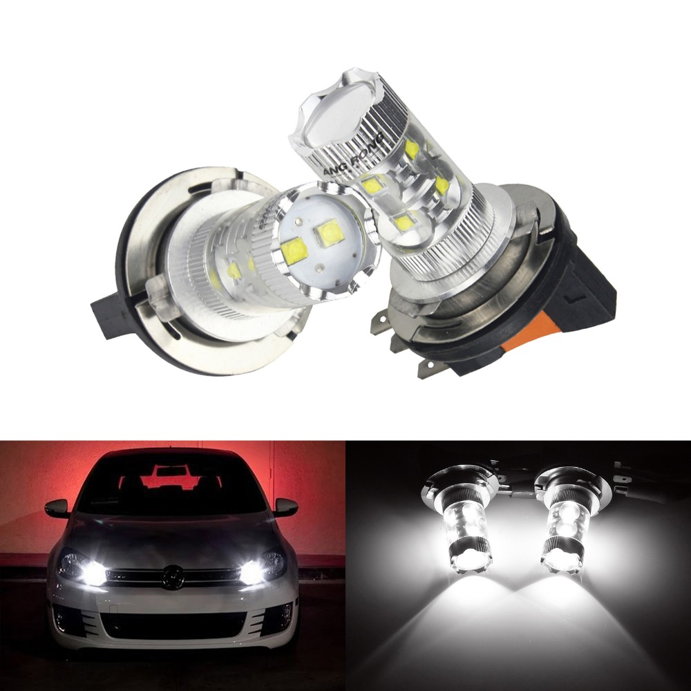 ANGRONG 2X <font><b>H15</b></font> Bulb <font><b>No</b></font> <font><b>Error</b></font> <font><b>LED</b></font> 50W Fog Daytime Running Light For Audi Benz BMW VW image