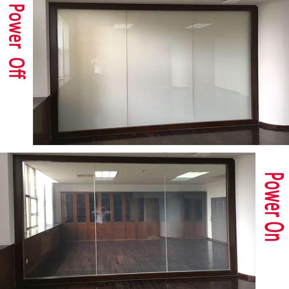Taille personnalisée PDLC mart Film verre/it utilisation pour écran de projecteur/cloison de pièce/protection de la vie privée