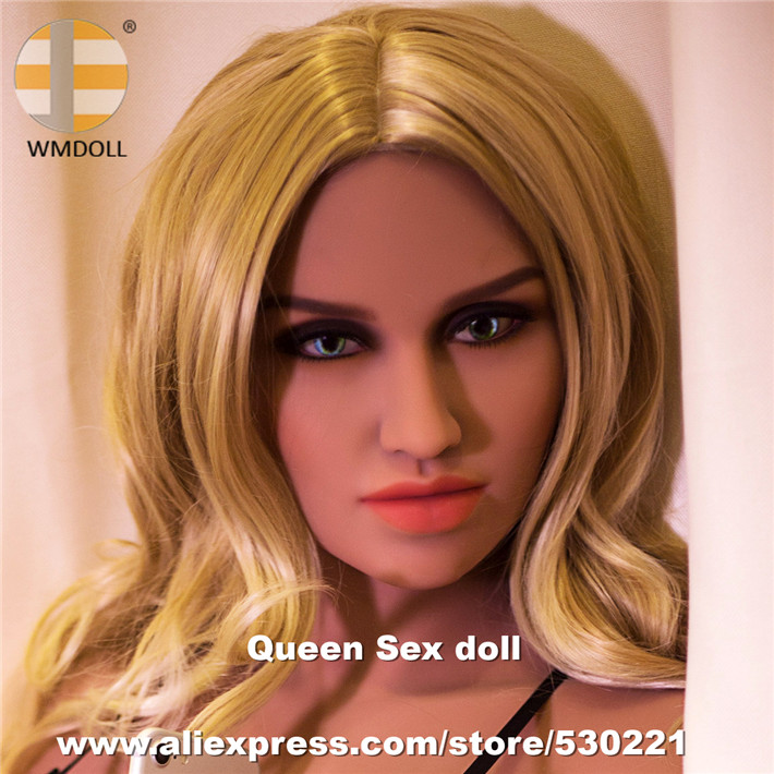 WMDOLL Top quality NEW 174 Silicone <font><b>Sex</b></font> <font><b>Doll</b></font> <font><b>Head</b></font> For Real <font><b>Doll</b></font> <font><b>Sex</b></font> Toy With Oral Sexy image
