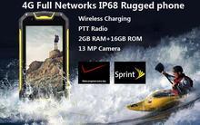 Entsperrt M9 M8 Android 5.1 PTT Radio MTK6573 ip68 Wasserdicht telefon GPS 4G FDD LTE CDMA 2000 wireless-ladegerät 4700 mAH NFC