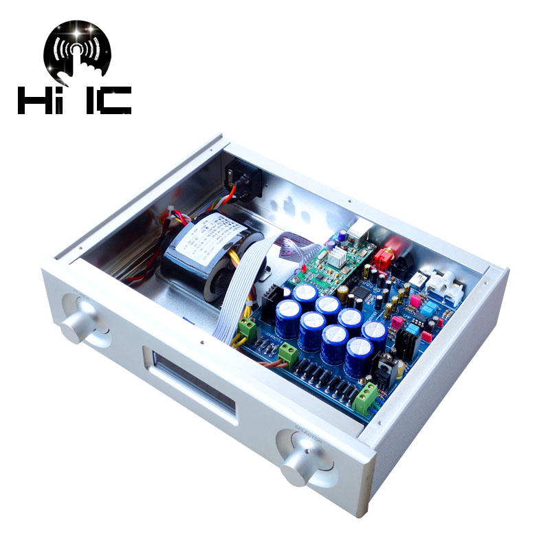Digital-analog-wandler Digitale Audio Decode Ak4495seq Ak4118 Xmos Usb Dac Decoder 192 Karat/24bit Unterstützung Usb Optische Koaxial Eingang Mit Lcd Display Unterhaltungselektronik
