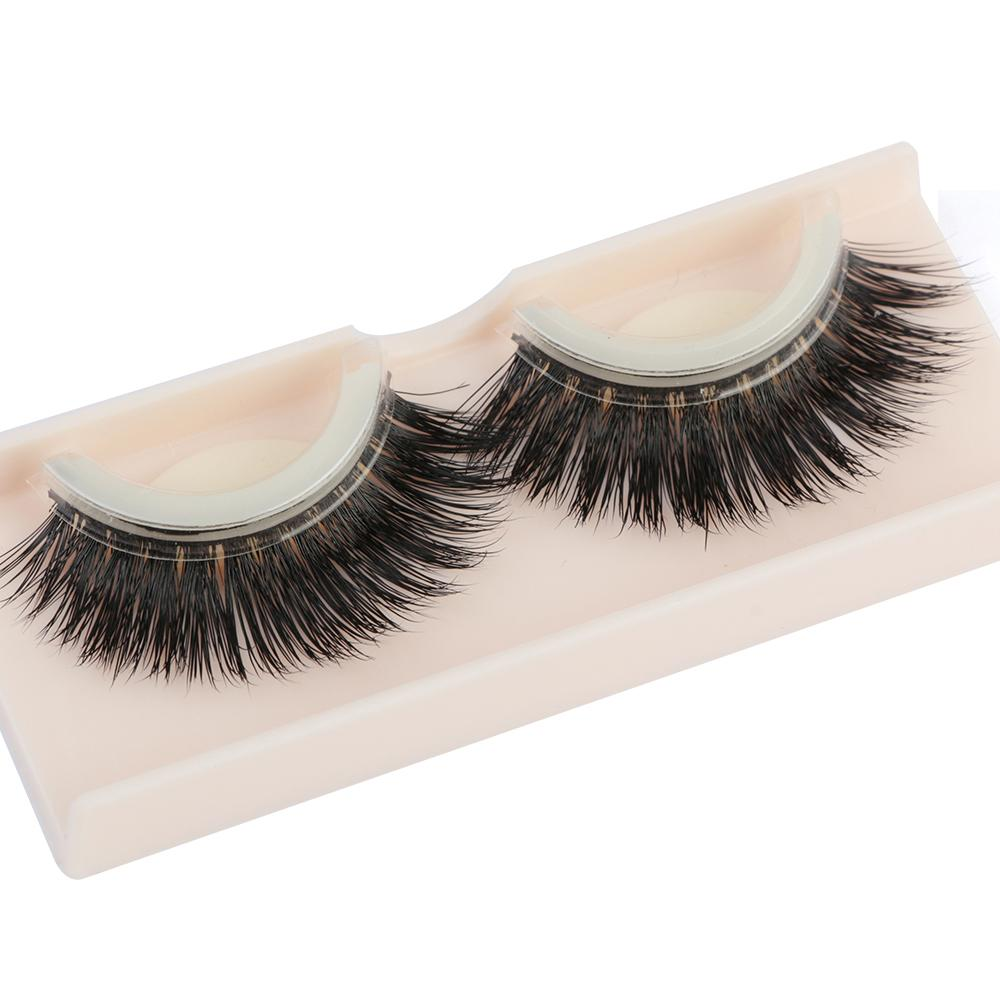 1 Pair Natural Mink Hair False Eyelashes Beauty Reusable Self-adhesive Eyelash Extension Tool Glue-banded Makeup Eye Lashes