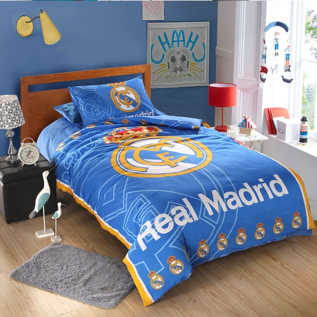 Amazing Football Linen Popular Soccer Team Bedding Duvet Cover Flat Sheet Pillow Case 3 4