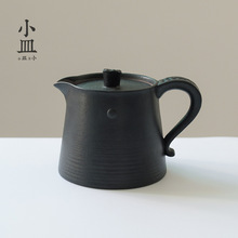 Ceramic tea pot, kung fu tea set, home, retro, originality, personality, simplicity, modern black single pot. new chinese style tight seal floral white ceramics tea caddies retro kung fu tea jar storage for home or teahouse