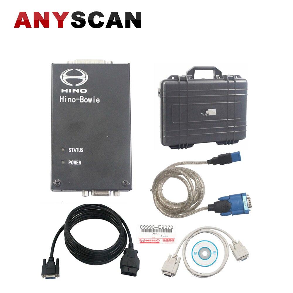 Professionnel pour Hino Hino-bowie Hino Diagnostic Explorateur pour HINO Camion Scanner V2.0.2 avec USB1.1 à RS232 Convertir Connecteur Câble