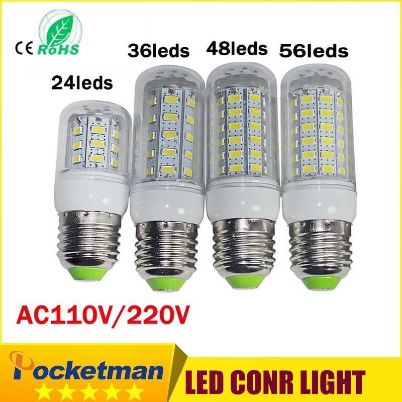 LED Bulb Lamp E27 E14 110/220V SMD5730 24/36/48/69Leds Light Bulbs Lampada LED Diode Lamps Energy Saving Light for Home Dropship energy efficient 7w e27 3014smd 72led corn bulbs led lamps