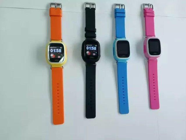 Q90 smartwatch gps crianças/crianças/bebê smart watch tela sensível ao toque de chamada sos relógio de pulso sos localização/devicetracker/anti perdido do monitor