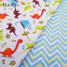 buulqo cotton Twill Fabric Kids Cartoon Cotton Patchwork Cloth DIY Sewing Quilting Fat Quarters Material For Baby&Child