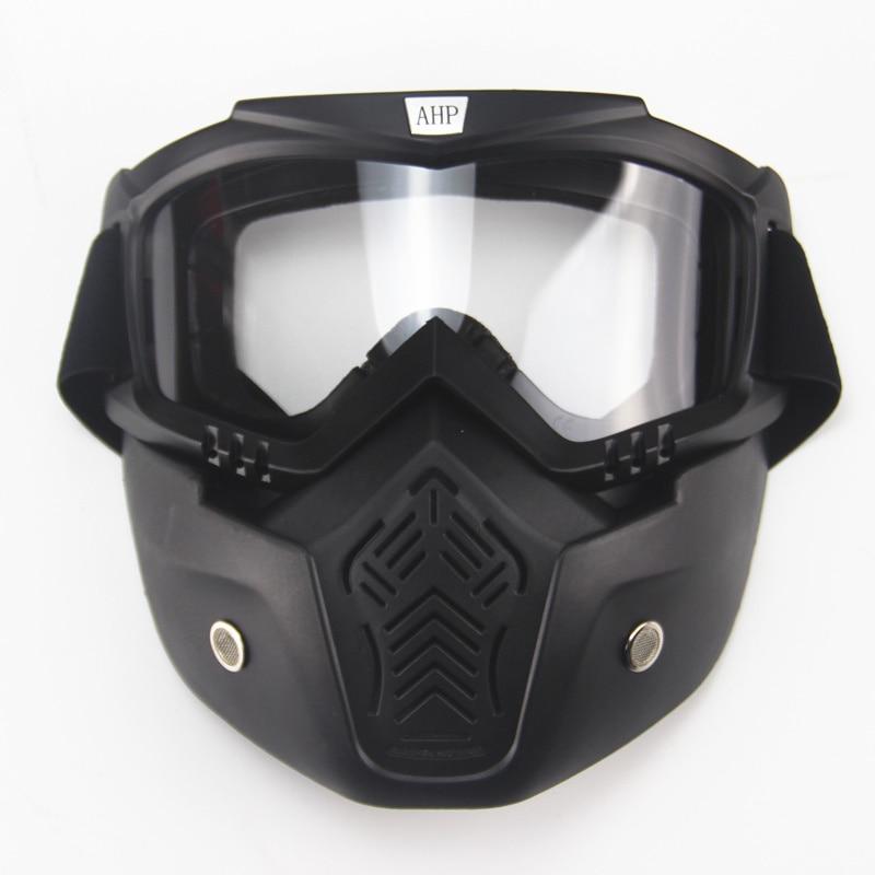 motorcykel ansiktsmask dammmask med avtagbar skyddsglasögon och - Motorcykel tillbehör och delar - Foto 3