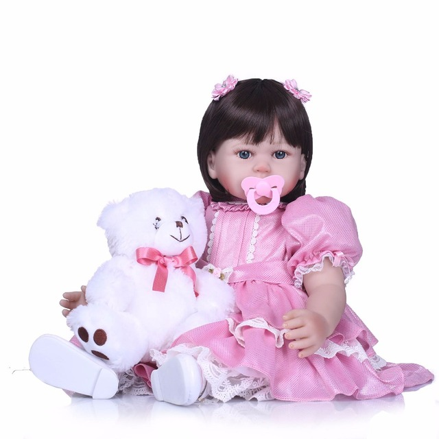 Silicone Reborn Babies Princess Dolls Toddler Vinyl Simulated Doll 2