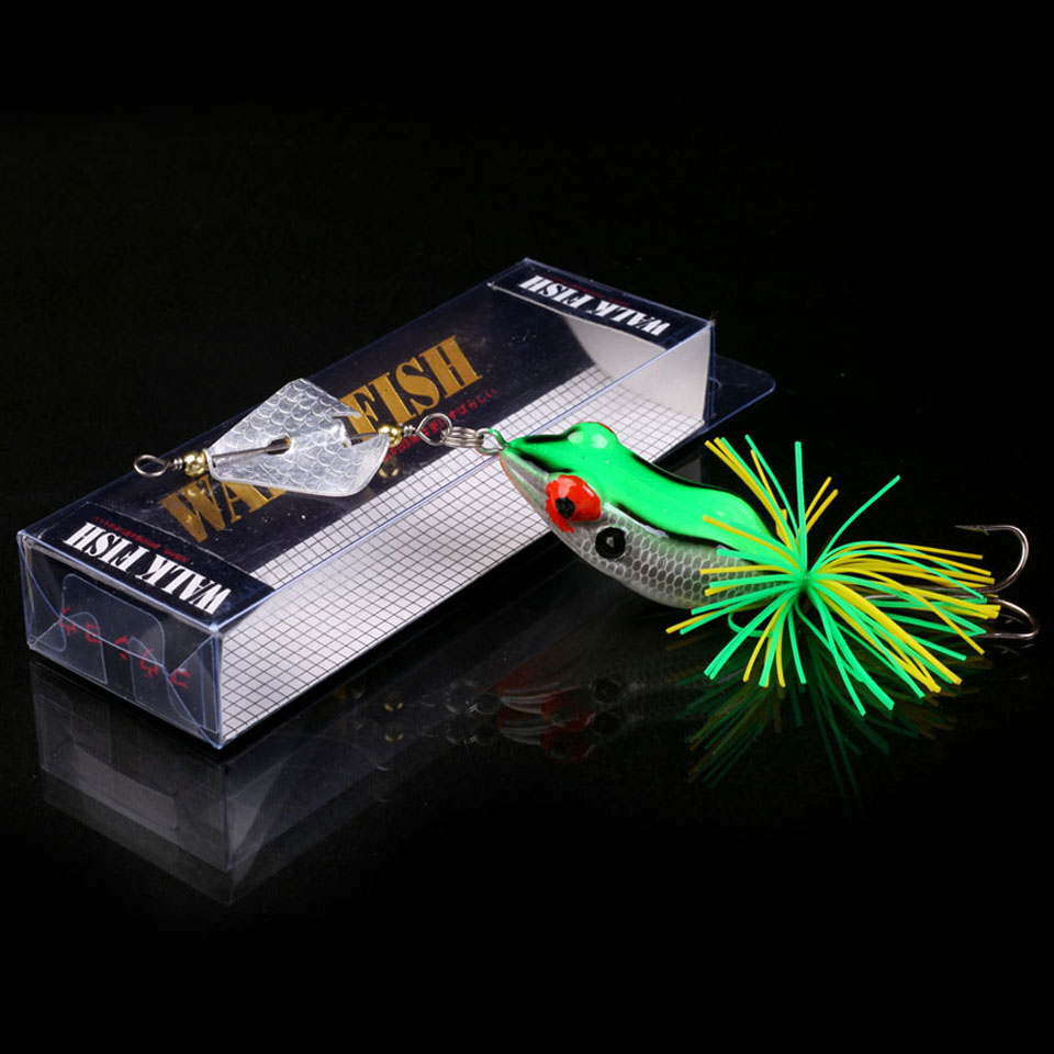 WALK FISH 1PCS Pesca Hard Fishing Lure With Propeller Large Noise Topwater Isca Frog Lure 140mm 11.2g Pesca Frog Fishing Tackle