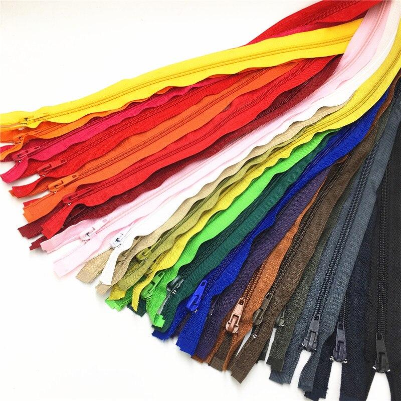22pcs mix color zipper 5# open end zipper 40cm  Nylon Zipper for DIY Sewing Garments Long coat Down Jacket