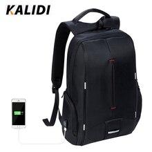 Kalidi Водонепроницаемый 15.6 дюймов Сумка для ноутбука teenag Бизнес путешествия модные черные Тетрадь рюкзак школьный мешок Mochilas Hombres