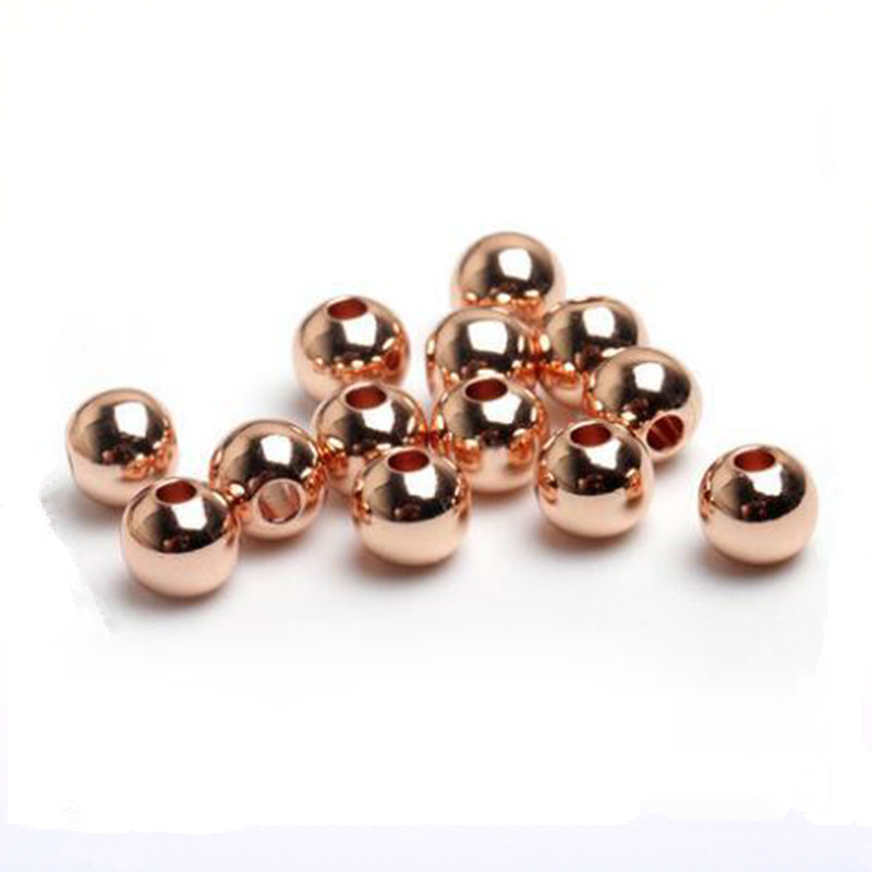 200pcs Rose Gold Metal Beads for Jewelry Making Loose Spacer Beads <font><b>DIY</b></font> Necklace Bracelet for Handicrafts Findings 2.4 3 4 <font><b>5</b></font> 6mm image