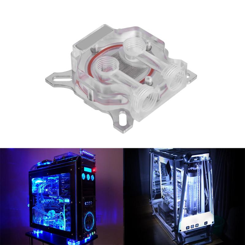 Computer GPU Water Block Video Graphics Card Fast Water Cooling Radiator for 43x43mm/ 53x53mm Hole Space POM/Acrylic universal computer gpu video graphics card water cooling cooler copper radiator transparent with led hole spacing 53 61mm