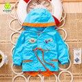 Bebé muchacho del niño cabos bebé clothing capucha bebé poncho cardigan muchacho de la capa casaco menino infantil kids blusa niños 70d015