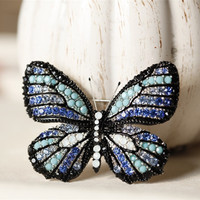 CMAJOR Fashion Jewelry Colorful CZ Butterfly Shaped Brooches For Women