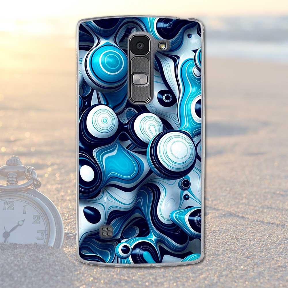 Fundas telefon case pokrywa dla lg spirit 4g lte h440y h422 h440n h420 miękka tpu kwiaty zwierzęta dekoracje telefon pokrywa dla lg duch 21