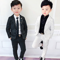 Children Striped Suit Two piece Leisure Dress Suit Suits British Wind Piano Costumes Suit Baby Boy