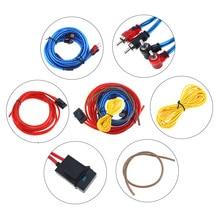 цены 1 Set 175 Core 4M PVC + Copper Clad Aluminum Car Power Amplifier  Audio Line Speaker Woofer Cables Power Line