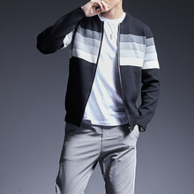 2020 New Fashion Brand Sweater For Men Kardigan Striped Slim Fit Jumpers Knitwear O Neck Autumn Korean Style Casual Mens Clothes