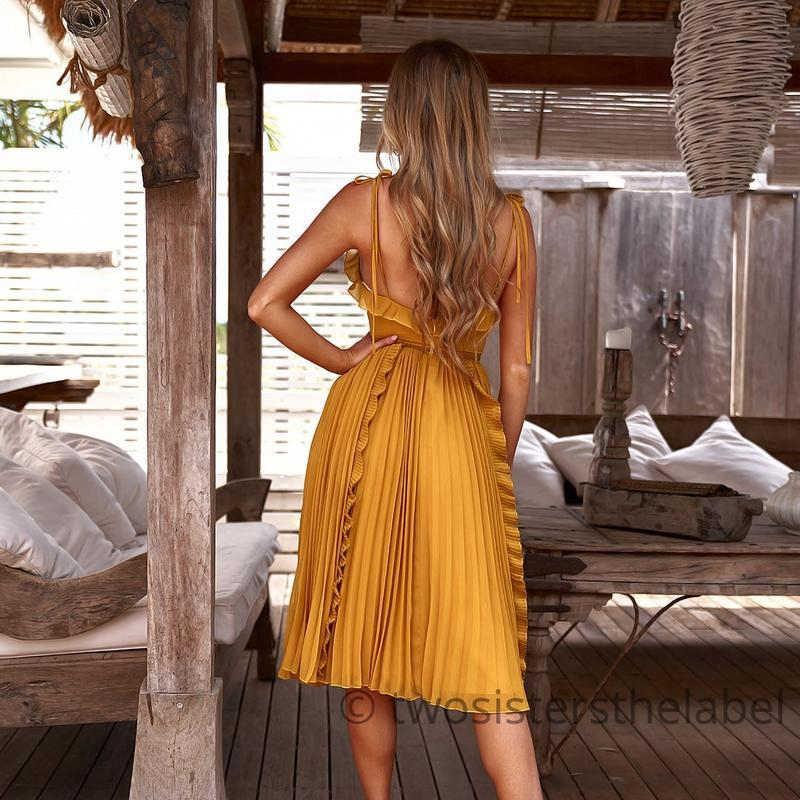 GUMPRUN летнее платье 2019 женское сексуальное, с открытой спиной, бесшовное белое платье женское Повседневное платье с v-образным вырезом и оборками на бретельках кружевное платье