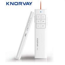 Knorvay N89 nowa ładowalna bezprzewodowa mysz prezenterowa, prezentacja PPT 2.4GHz bezprzewodowy pilot zdalnego sterowania
