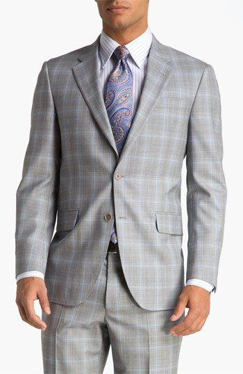 ede460d67cff Grey Glen Plaid Mens Vintage Plaid Slim Fit Suits 2017 Two Buttons Notch  Lapel Groomsmen Wedding Tuxedos(jacket+pant+vest)-in Suits from Men's  Clothing ...