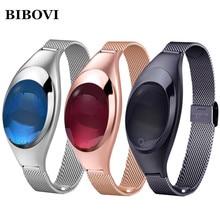 Bibovi Smart Band Мода Android IOS Z18 крови Давление монитор сердечного ритма наручные часы роскошные часы женщины подарок