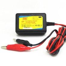 Carregador de carro recarregável dc7.2v 1a 6v, carregador inteligente para carro, bateria de chumbo ácido 6v para bateria 4ah 4.5ah 7ah 10ah 12ah tomada ue/eua