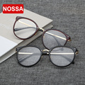 NOSSA Vintage Points Women And Men's Clear Glasses Round Frame Eyeglasses Students Myopia Spectacle Frames Optical Glasses Frame