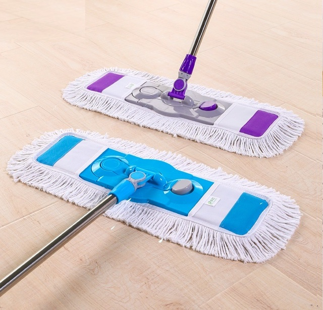 Fregona Commercial Flat Mop Household Plus Large Wooden Floor Mop