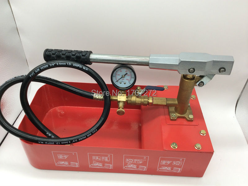 free shipping Hand movement 7.0mpa vacuum water pump for Water pressure test pipe leak hunting