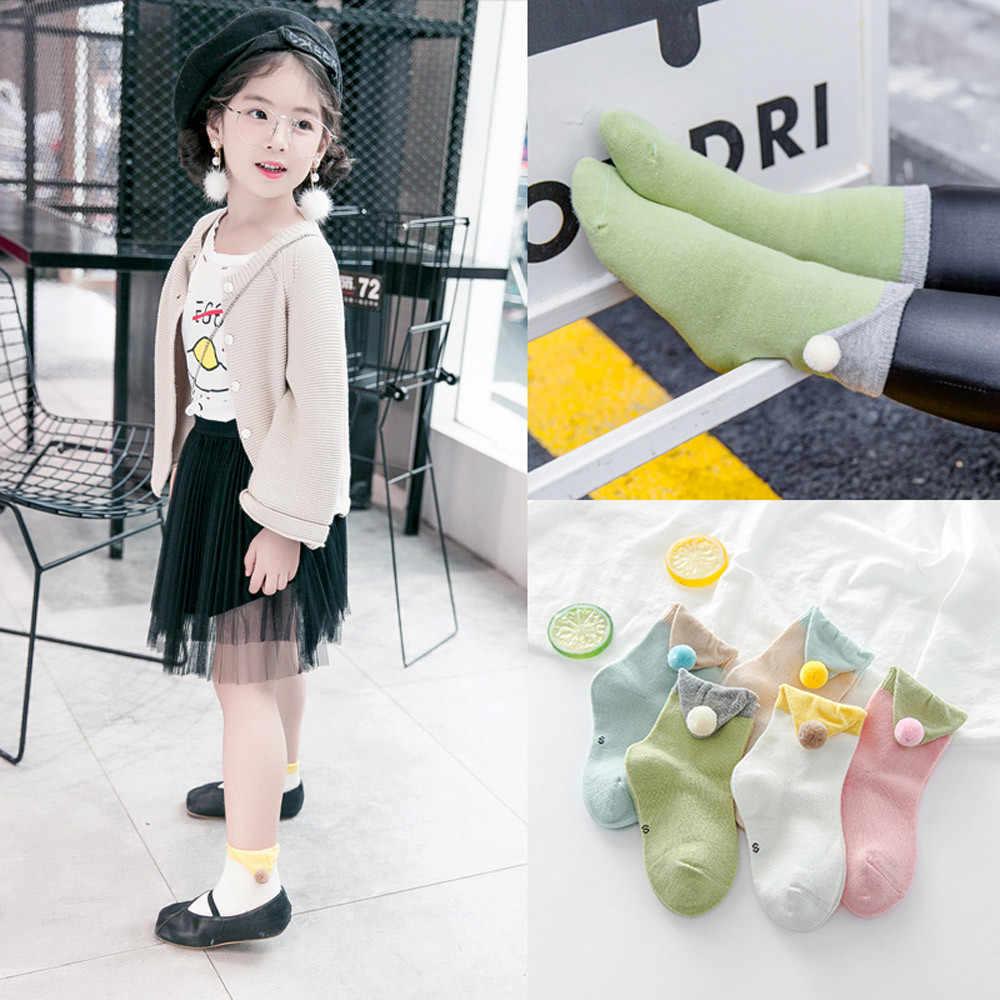 5 пар/упак. детские носки с маленькими шариками для волос партия, носки унисекс для малышей с единорогом для девочек и мальчиков, детские мягкие зимние носки с героями мультфильмов, 1 D18