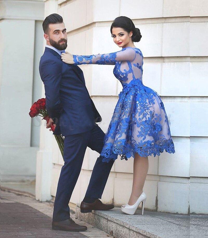 36d6fcef82e Blue Sexy vestido de noiva Cocktail Dresses Custom Made US 2 4 6 8 10 12 14  16 Plus Size robe de soiree Appliques prom dresses
