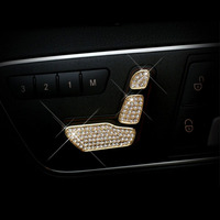 car styling Seat Adjust Button Switch Cover For Benz W204 W205 W212 W218 X204 X166 B C E GLK GL ML Class GLS car Accessories