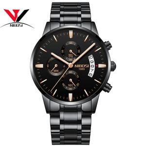 Image 4 - [Ship From Brazil] Relogio Masculino Dourado Men Watch 2018 Luxury Brand Waterproof Analog Quartz Watch For Men Original NIBOSI