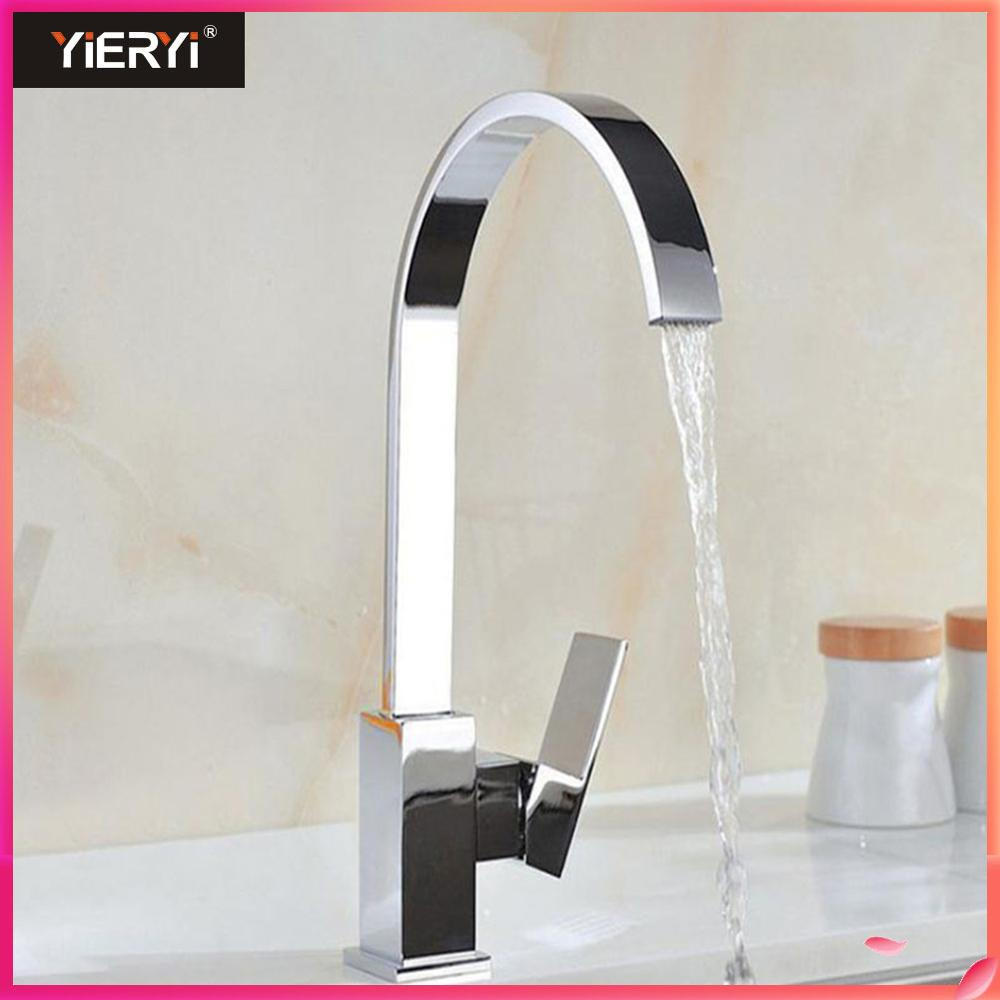 Yieryi Hot and Cold Water Faucet Elbow Rotating Dish Double Vertical Heightening Kitchen Faucet Kitchen Ware Ceramic Valve CoreYieryi Hot and Cold Water Faucet Elbow Rotating Dish Double Vertical Heightening Kitchen Faucet Kitchen Ware Ceramic Valve Core