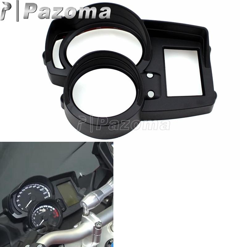 Noir motos jauges panneau couverture tableau de bord Instrument Surround pour BMW F650 F700 F800 F1200 GS GT ST R 2008-2016