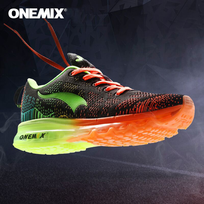 Onemix Autumn Music Rhythm Breathable Knit Vamp Outdoor Mens Running Shoes Women Sport Shoes Running Sneakers  Men Sport Shoes peak sport men outdoor bas basketball shoes medium cut breathable comfortable revolve tech sneakers athletic training boots