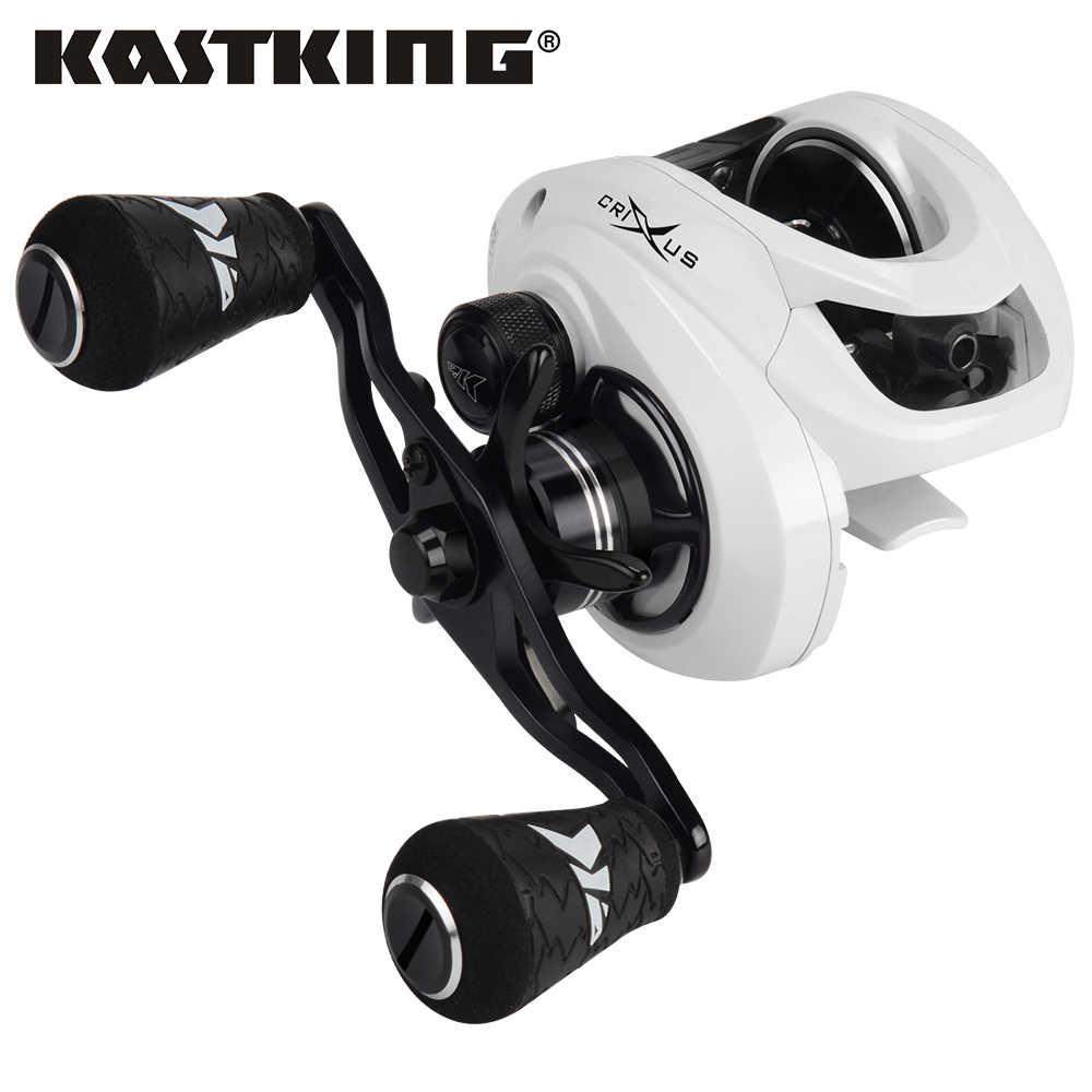 KastKing Crixus إطارات دراجة تسلق الجبال خفيفة الوزن baitcast الصيد بكرة نظام الفرامل المزدوجة 6.5:1/7.2:1 نسبة والعتاد 8 كجم سحب الطعم الصب الصيد لفائف