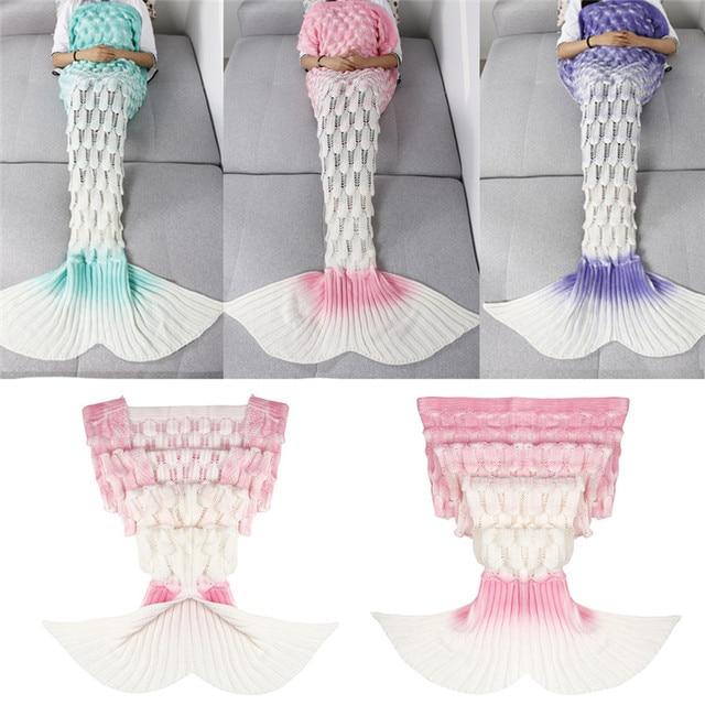 3 Degradado de color Hecho A Mano de Ganchillo Hecho Punto Mermaid ...