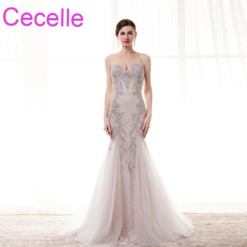 Lace Mermaid Formal Long Evening Dresses 2018 With Straps luxury ...