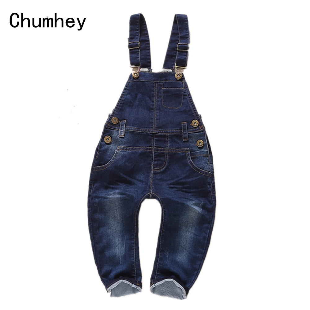 Baby Rompers Jeans Bib Overalls Spring Girls Boys Denim Jumpsuit Cotton Clothing Cowboy Toddler Clothes Bebe Suspender Trousers free shipping 2017 new fashion summer denim bib pants loose plus size 3xl jumpsuit and rompers women shorts cotton jeans casual
