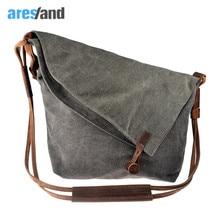Aresland  women messenger bags canvas Casual Crazy Horse Leather Crossbody Bags women's bags Shouder Bag Ladies Bolsa Feminina