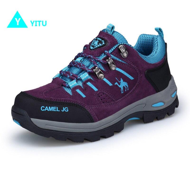 YITU Printemps Femmes Chaussures de Randonnée Sports de Plein Air Chameau Chaussures Grande Taille Respirant Femmes Sneakers Montagne Escalade Cheville Bottes